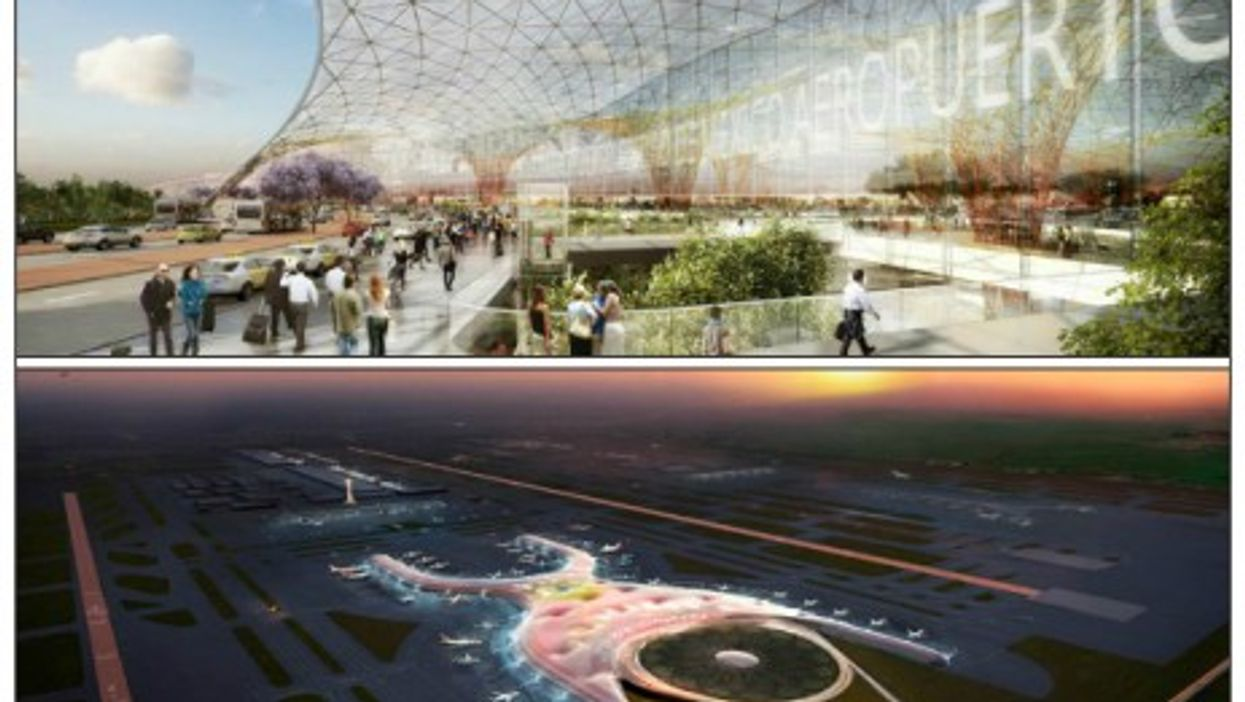 Renderings of Mexico City's new airport, expected to be in use by 2020