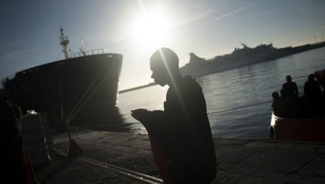 Rescuing migrants in Malaga on Oct. 12