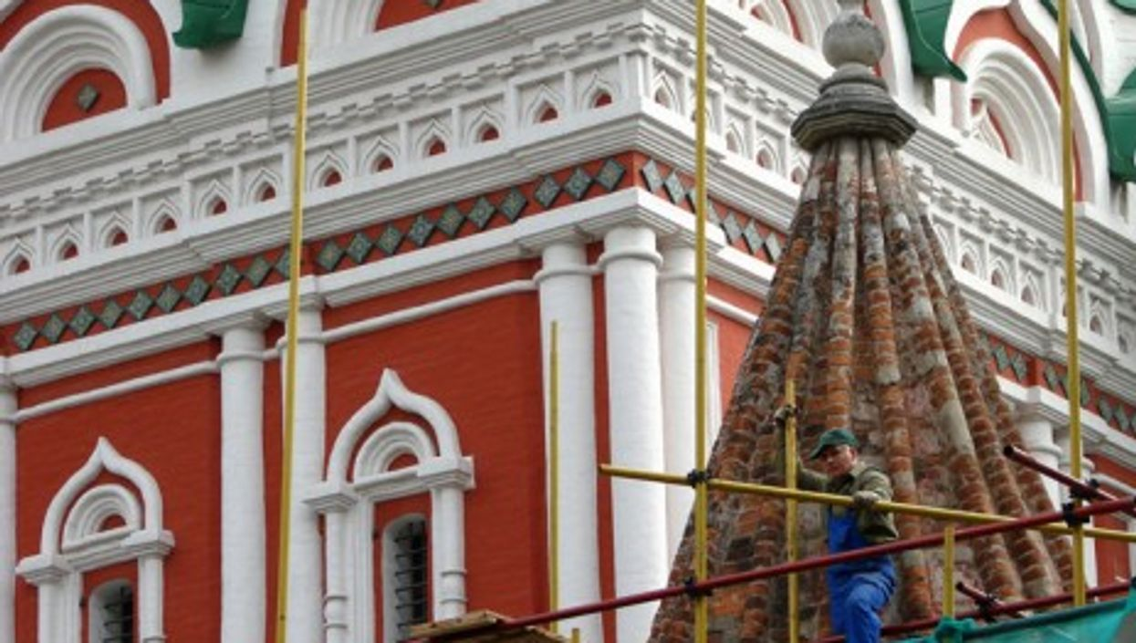 Restoration in process in Moscow. (Adam Jones, Ph.D.)