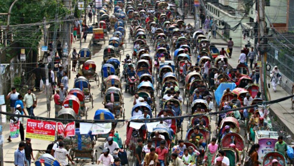 Rickshaws in Dhaka, Bangladesh