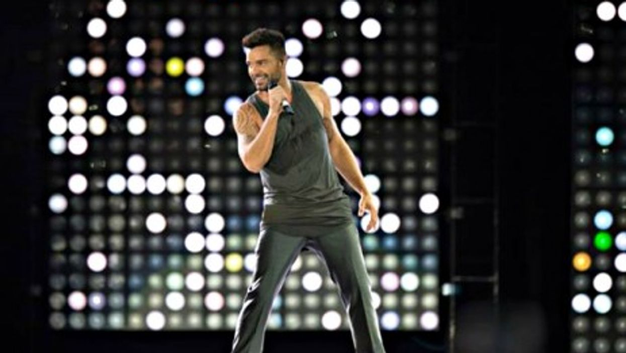 Ricky Martin performing in Ciudad del Carmen, Mexico, in October