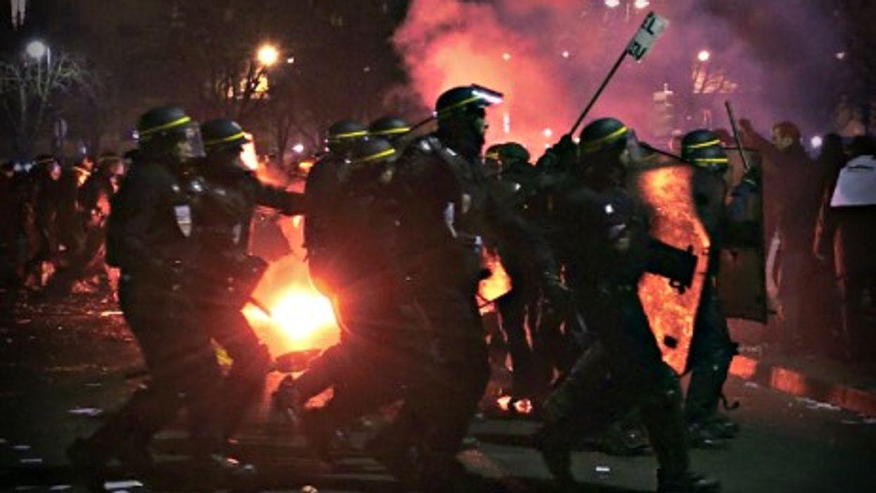 Riot control forces in Paris