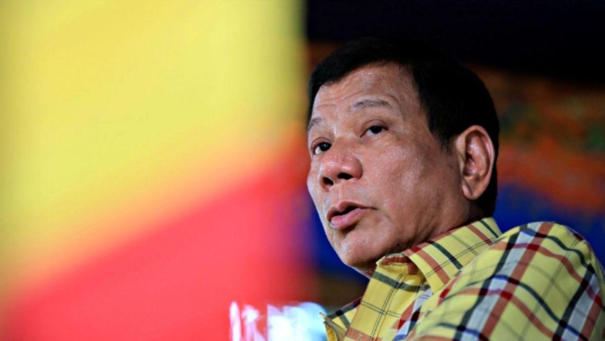 Rodrigo Duterte in Jolo, Philippines, on Aug.12