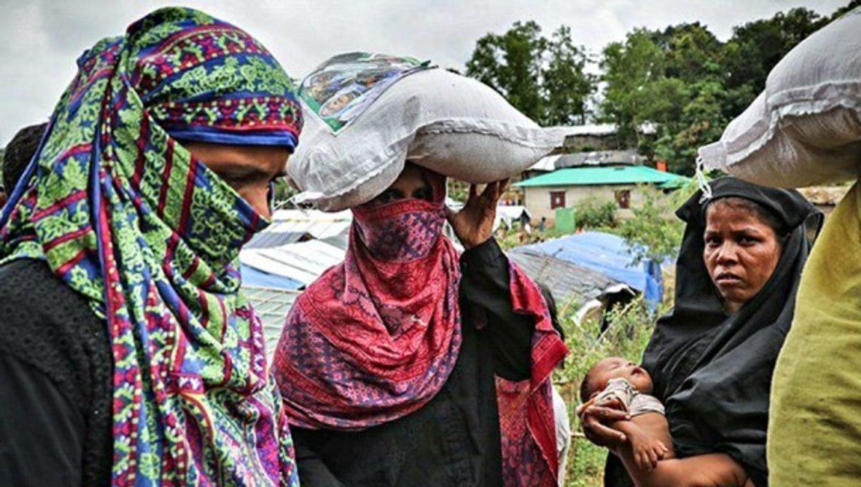 Rohingya displaced muslims.