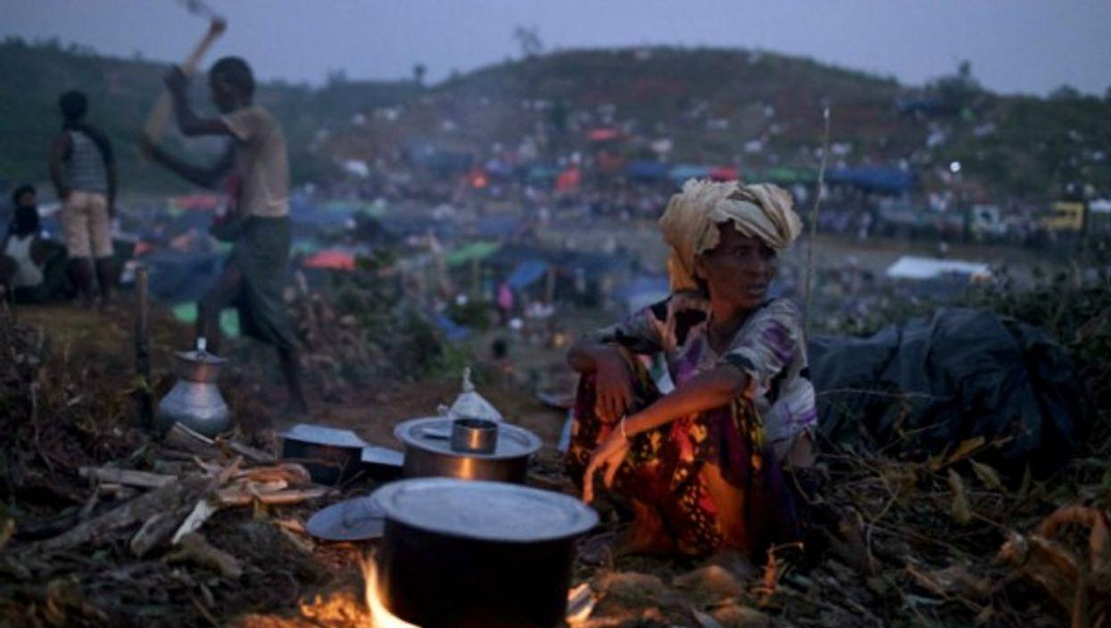 Rohingya refugees at the Thenkhali refugee camp.