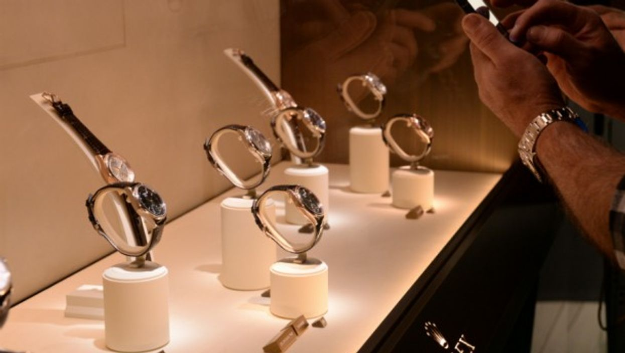 Rolex watches on display in Basel, Switzerland