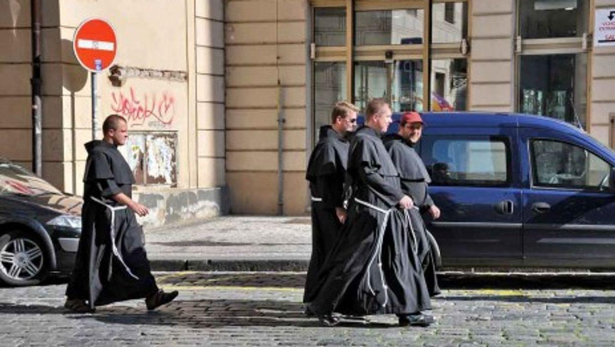 Roman Catholic monks in Prague (FaceMePLS)