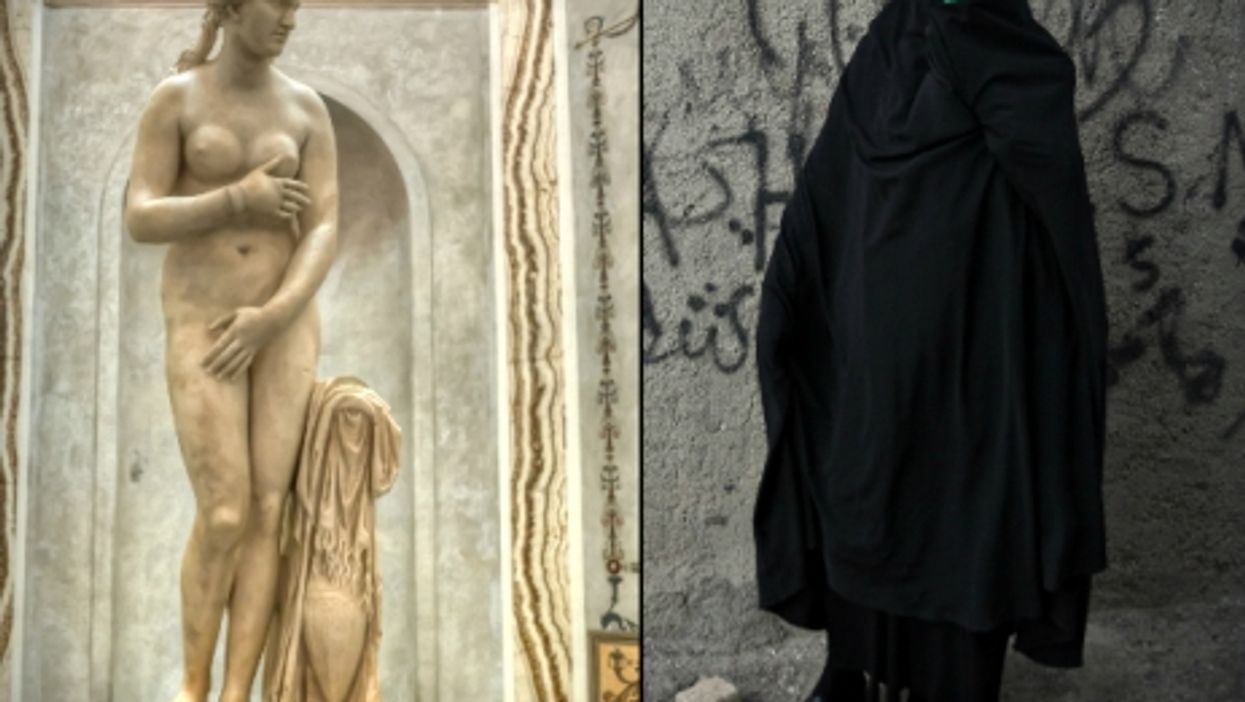 Rome's Capitoline Venus and an Iranian woman in a burqa