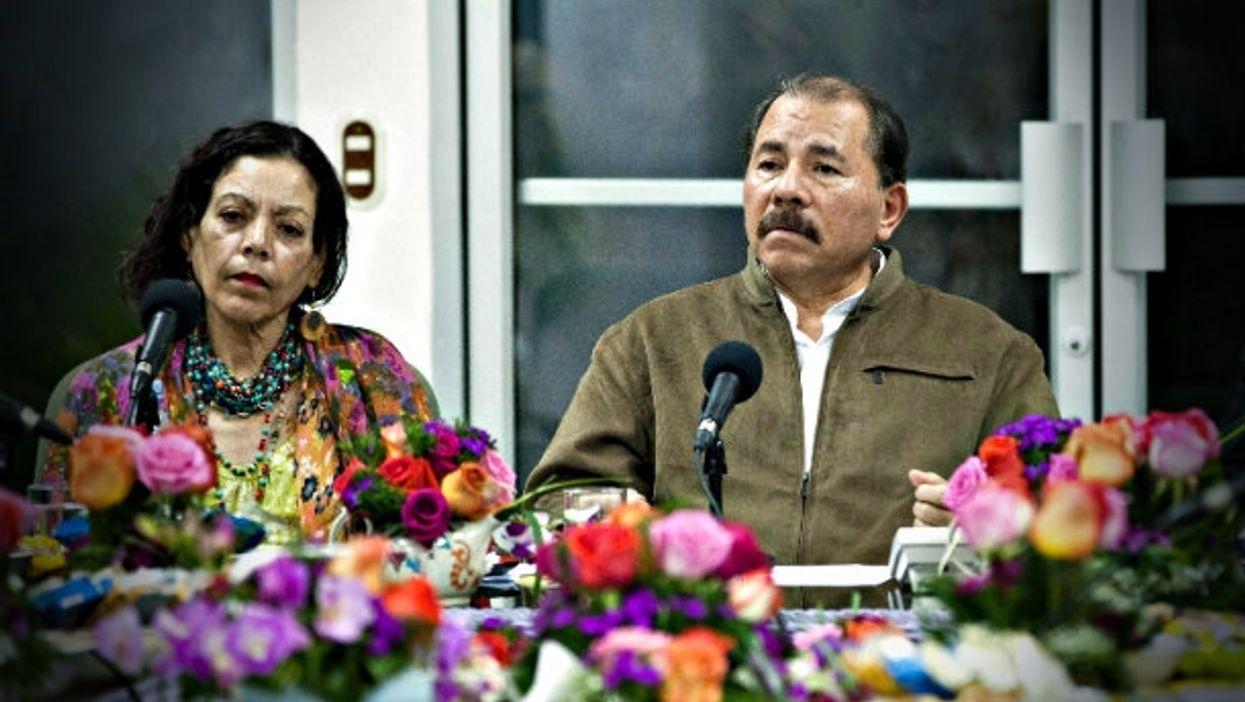 Rosario Murillo and Daniel Ortega in 2013