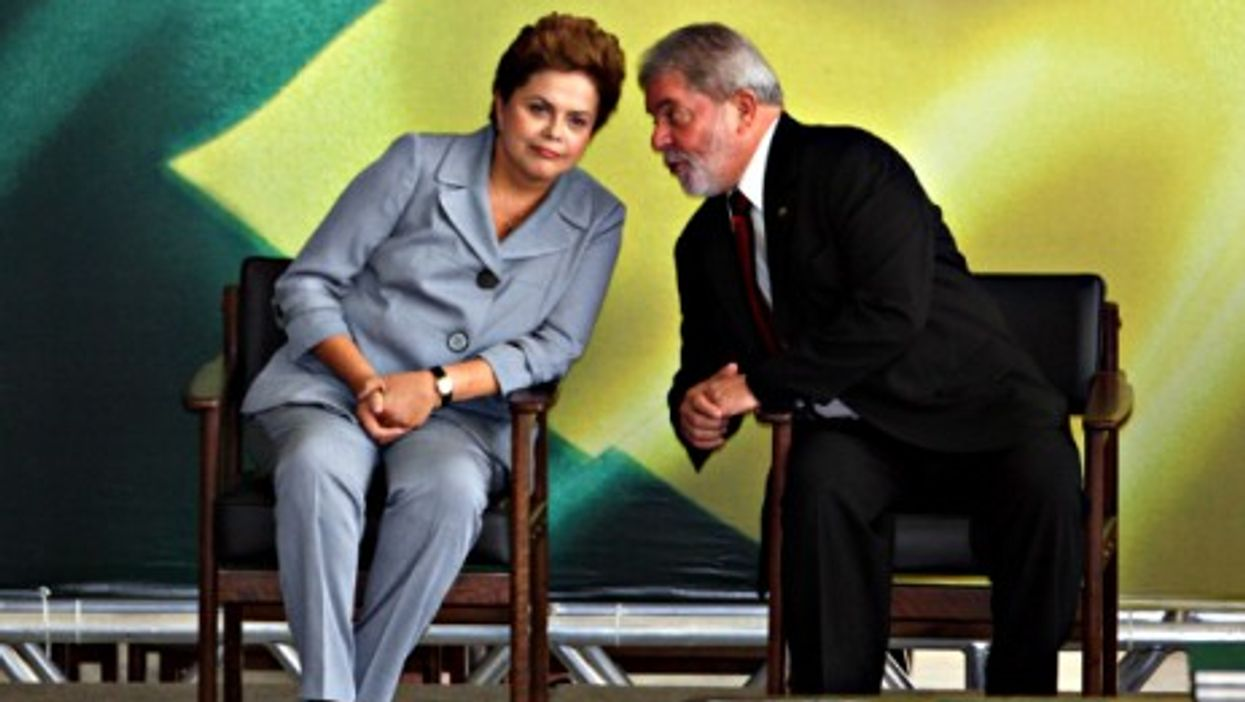 Rousseff and then Brazilian President Lula, back in 2010