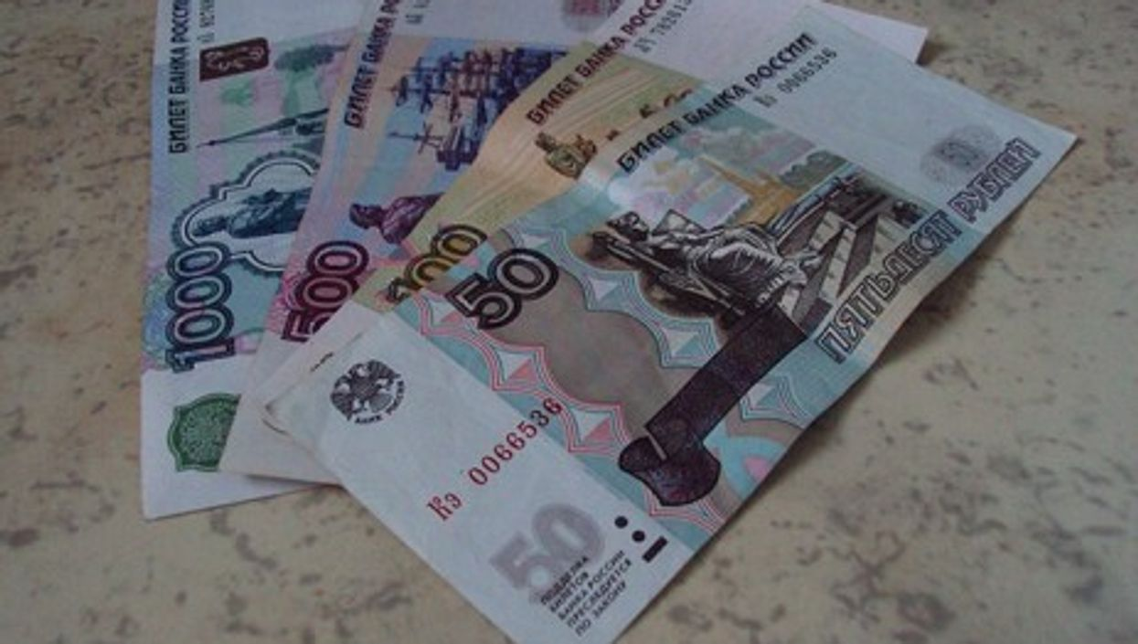 Ruble banknotes