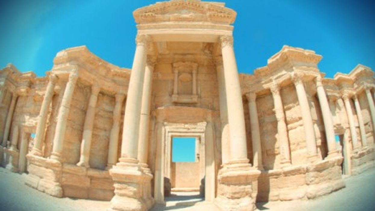 Ruins in the ancient city of Palmyra are among Syria's many priceless treasures.