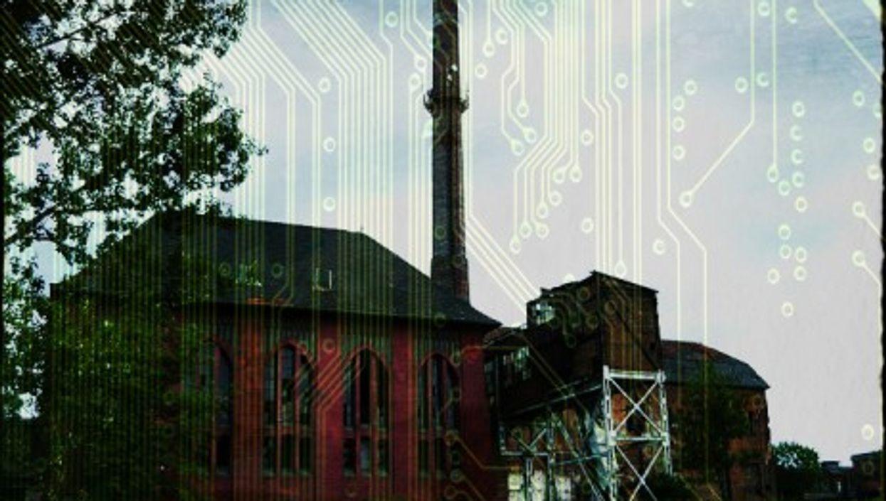 Ruins of a mine boiler in Rozbark coal mine in Bytom