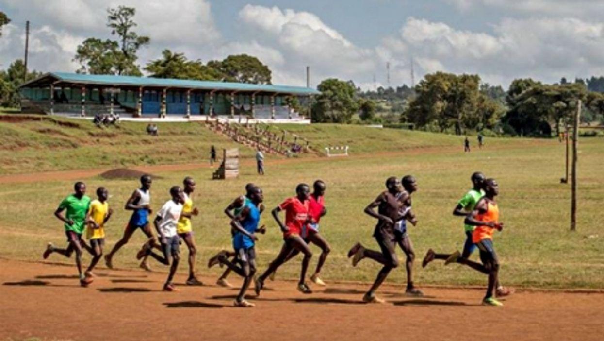 Runners training in Iten, Kenya