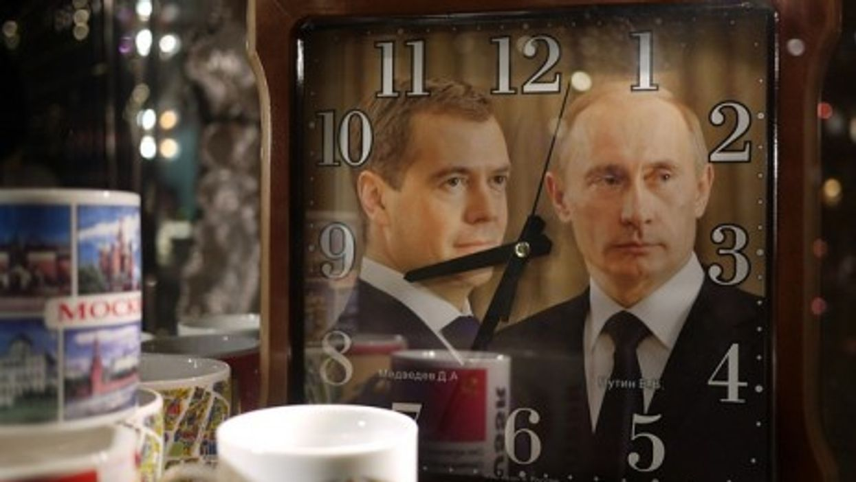 Russia's dynamic duo: Dmitry Medvedev (left) and Vladimir Putin