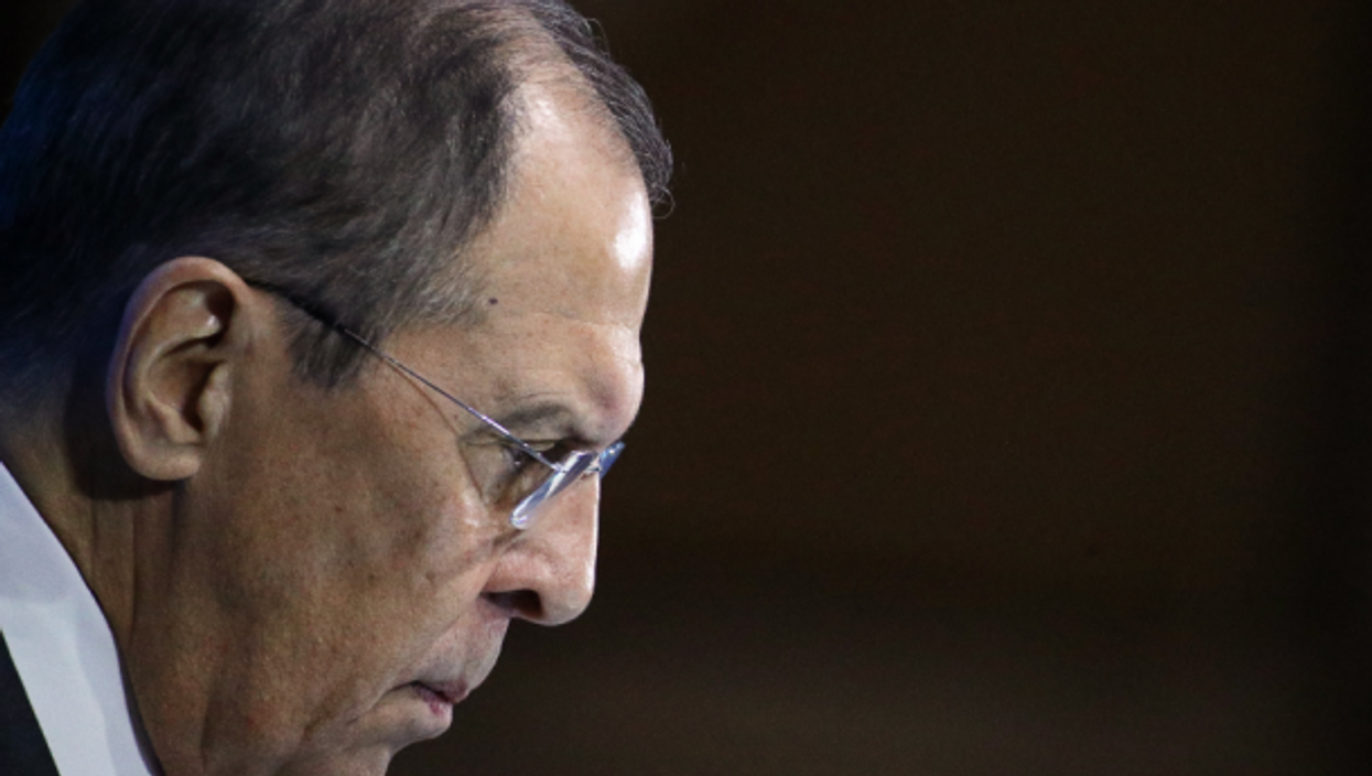 Russia's Minister of Foreign Affairs Sergei Lavrov at the New Knowledge Forum at the Moscow Digital Business Spac