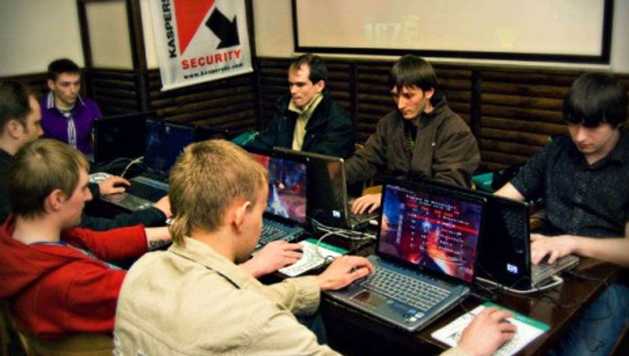 Russian gamers at a Kaspersky-sponsored event