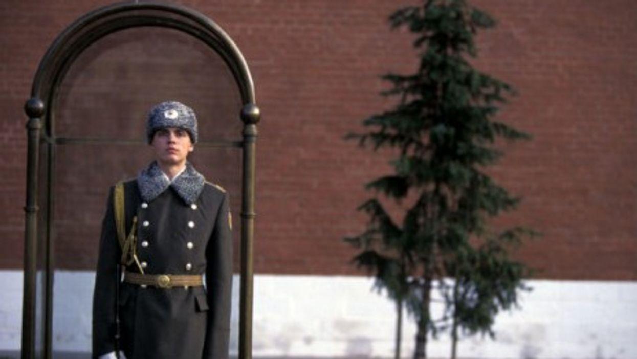 Russian guard outside Kremlin
