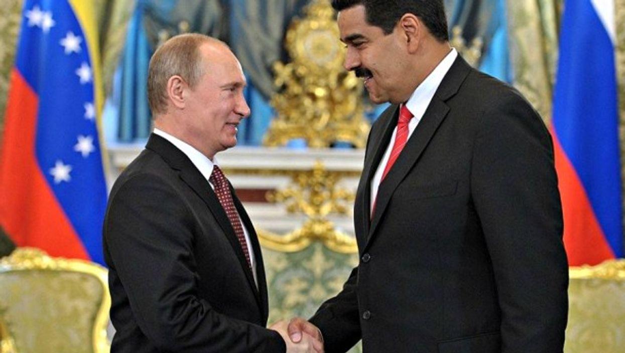 Russian President Putin and his Venezuelan counterpart Maduro