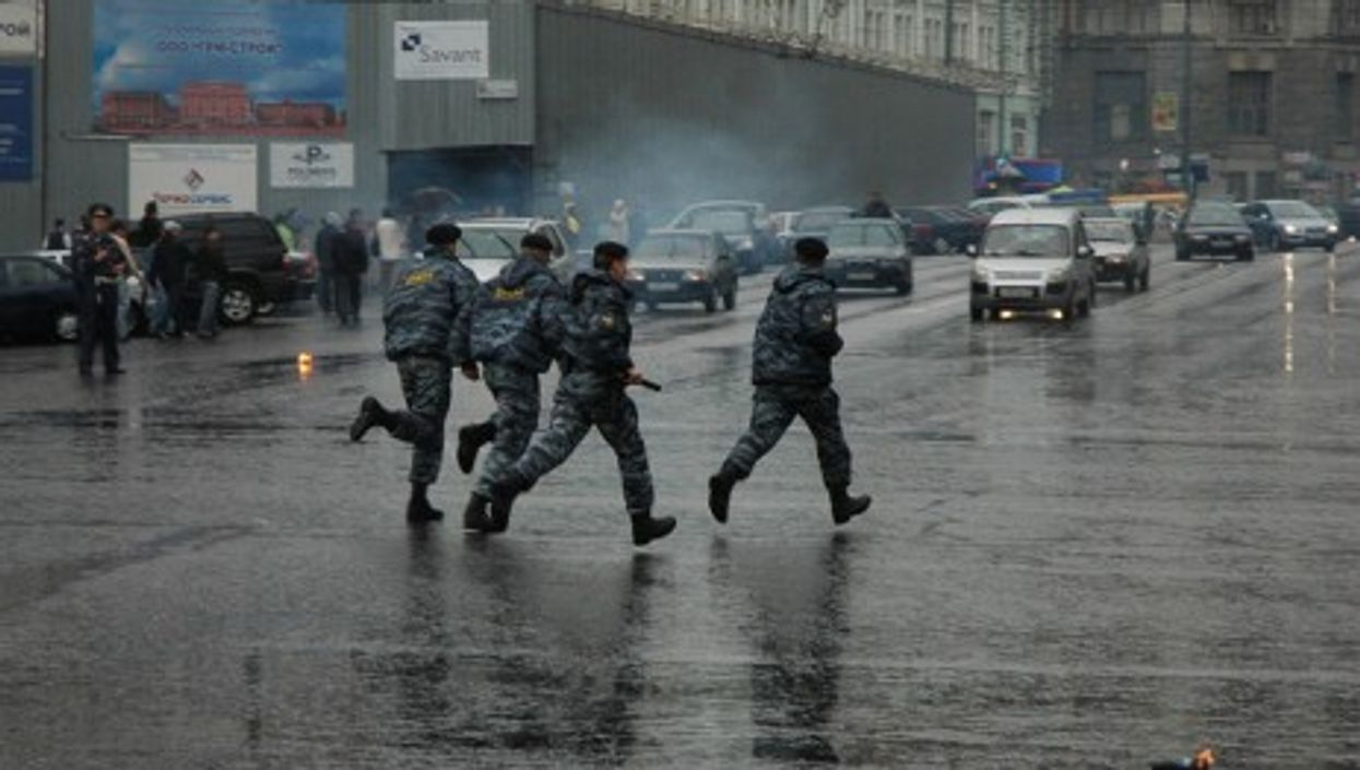 Russian riot police.