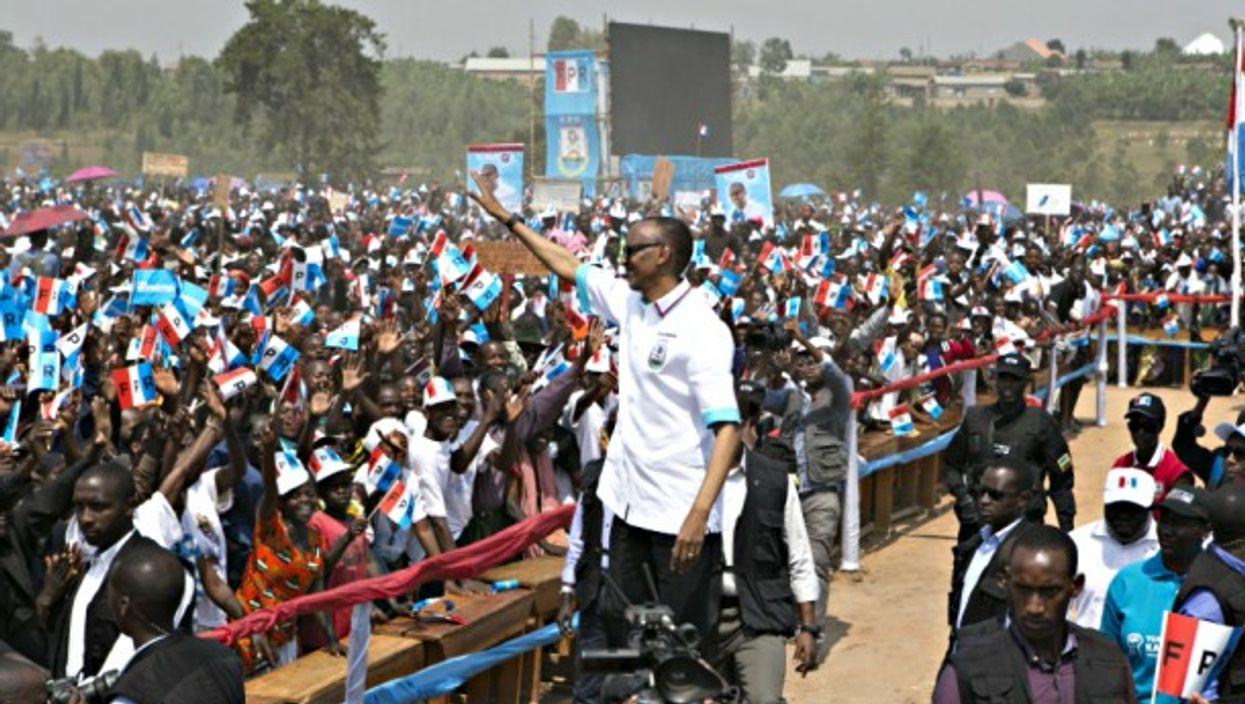Rwanda's Paul Kagame in Nyanza on July 14