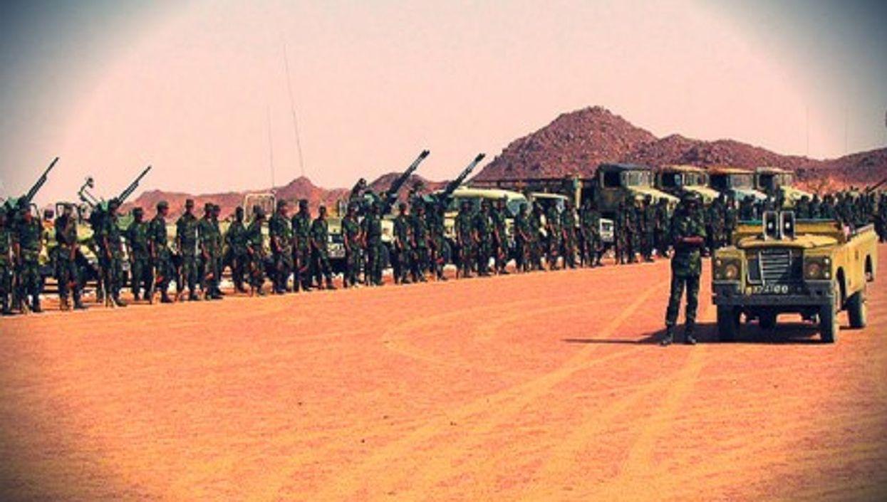 Saharawi troops in Western Sahara