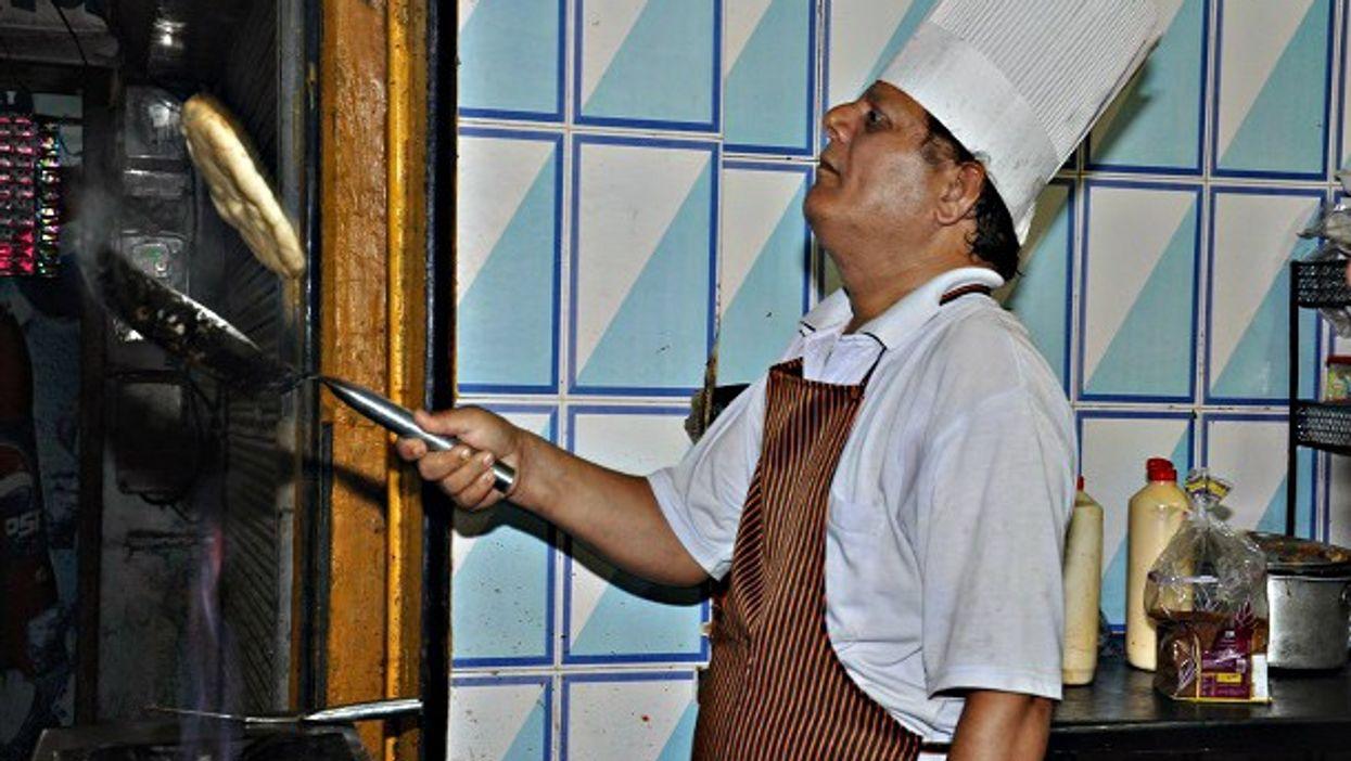 Sanjay Sharma, the omelet chef