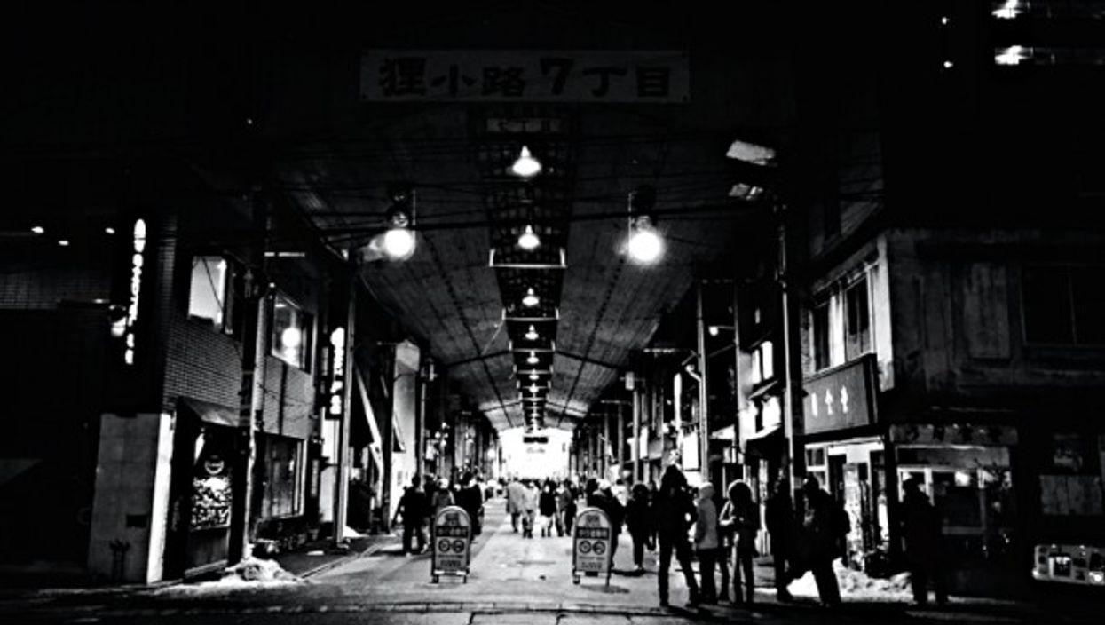 Sapporo Tanuki Koji Shopping Street in Hokkaido, Japan