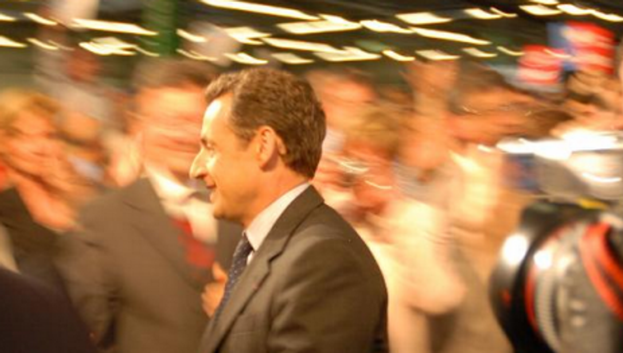 Sarkozy during the 2007 campaign. He couldn't repeat that victory Sunday after five tumultuous years (G. Paumier)