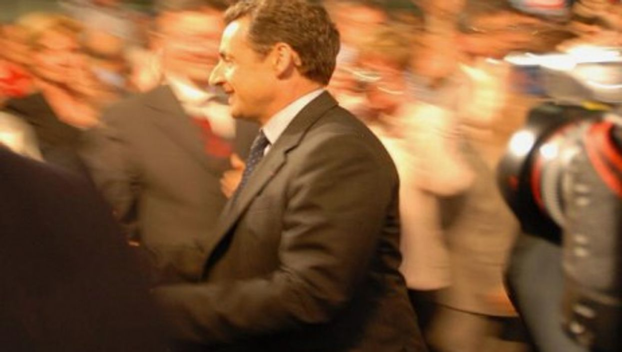 Sarkozy on the move in 2007 (Guillaume Paumier)