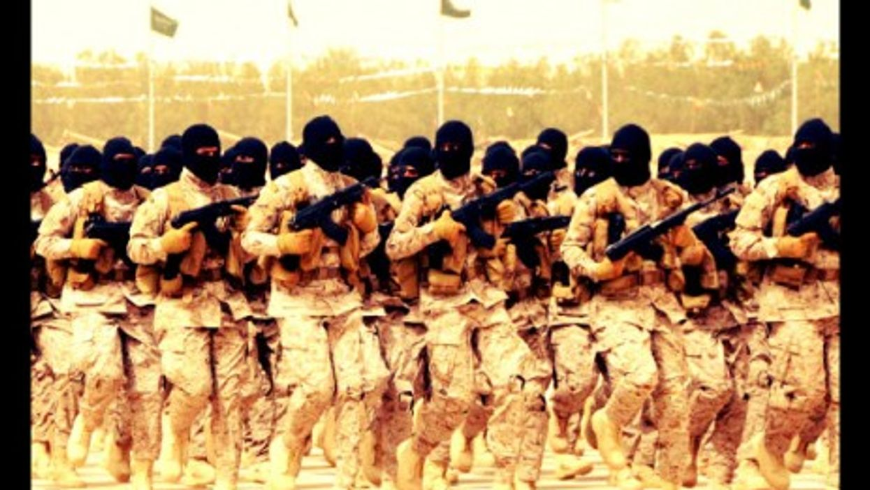 Saudi army drills earlier this year