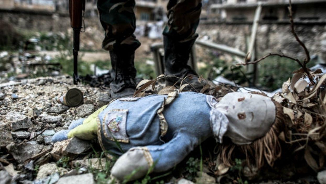 Scenes of war in Aleppo