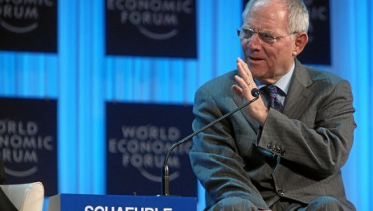 Schäuble ready for the plunge? (WEF)