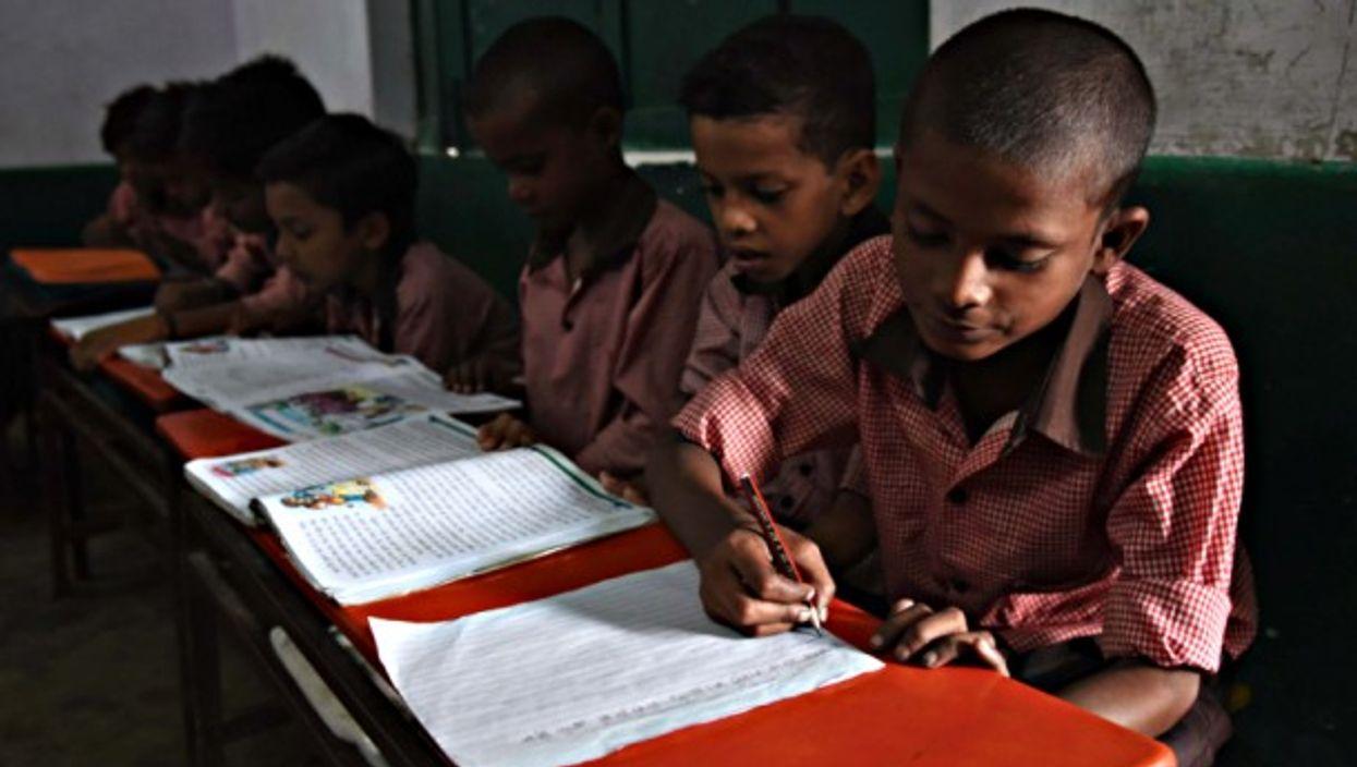 School children in Allahabad, India