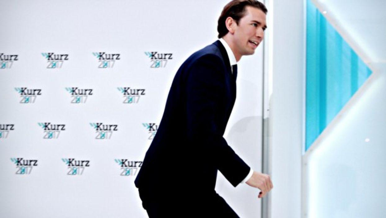 Sebastian Kurz in Vienna on Oct. 15