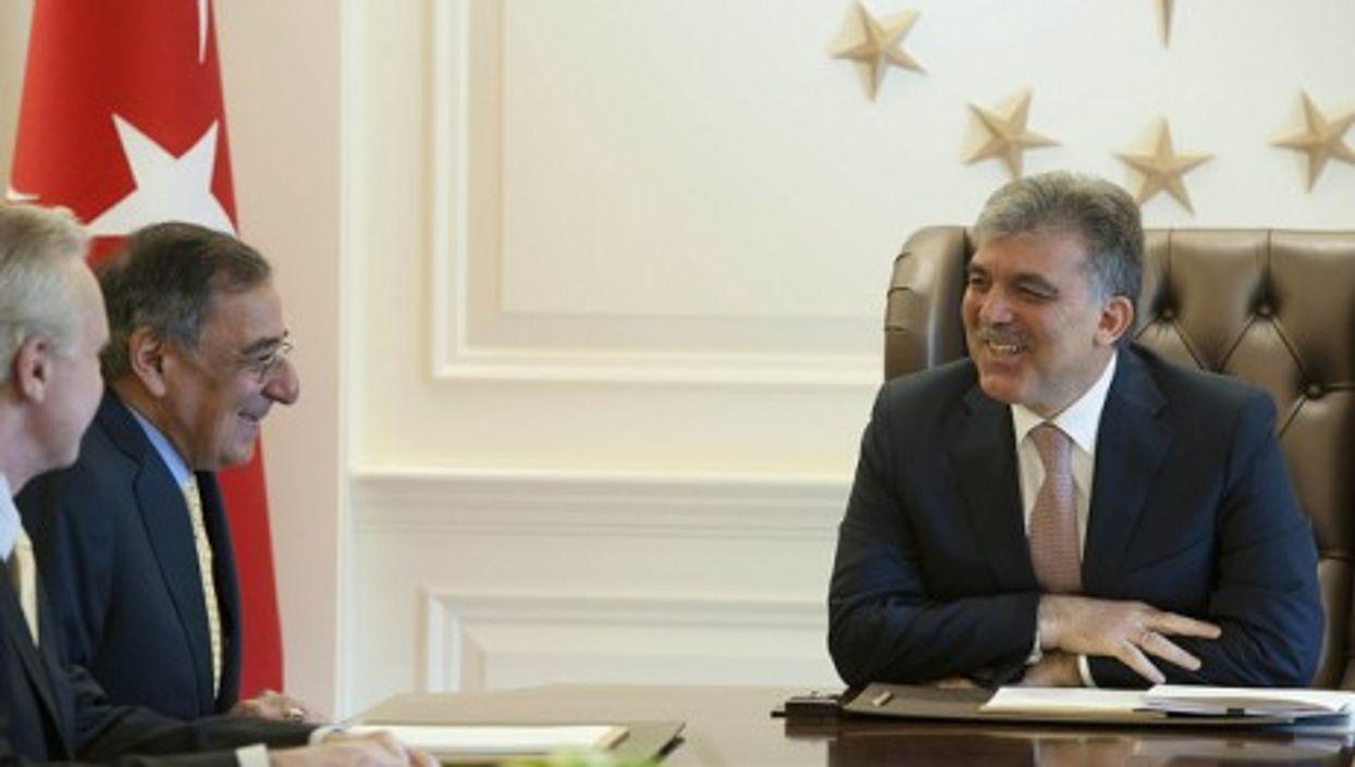 Secretary of Defense Leon E. Panetta meets with Turkish President Abdullah Gul in Ankara, in 2011 (Leon E. Panetta)