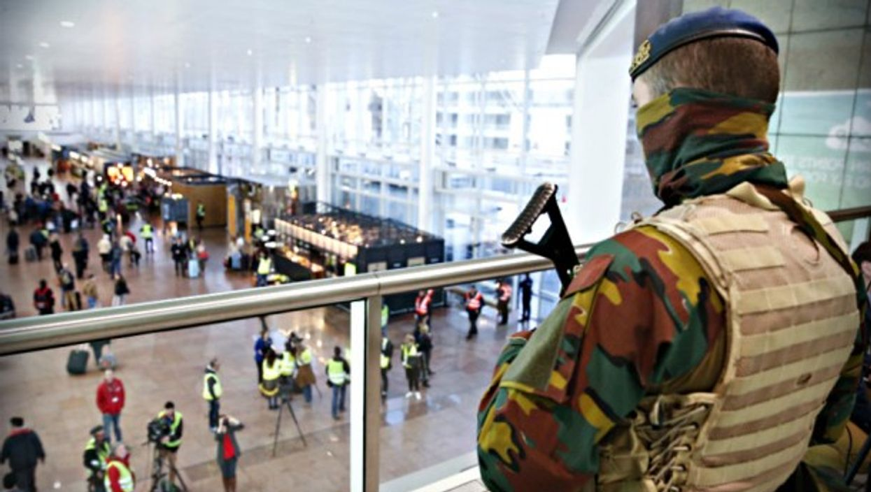 Security on Wednesday at Brussels airport