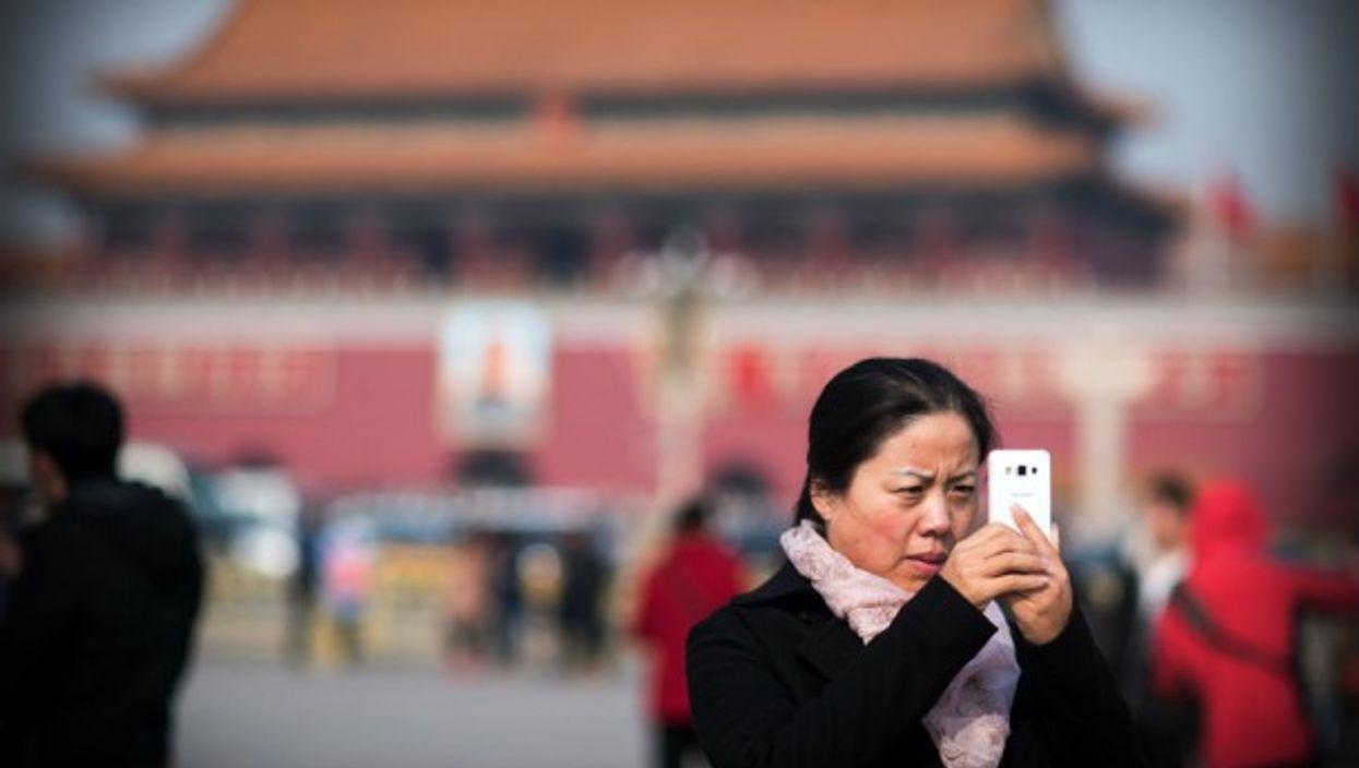 Selfie time in Tiananmen Square