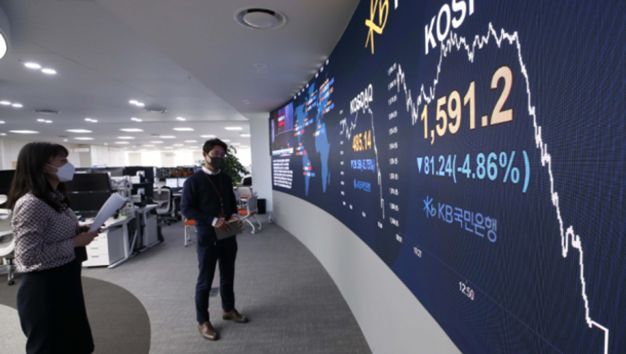 Seoul stock exchange on March 18