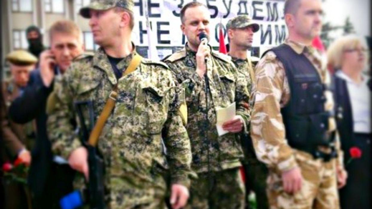"Separatist leader Pavel Gubarev, the ""People's Governor"" in Donetsk"