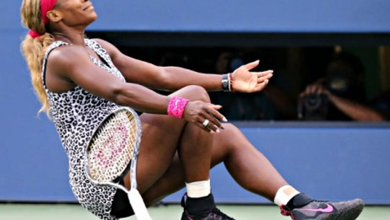 Serena Williams won her third U.S. Open title in a row Sunday.