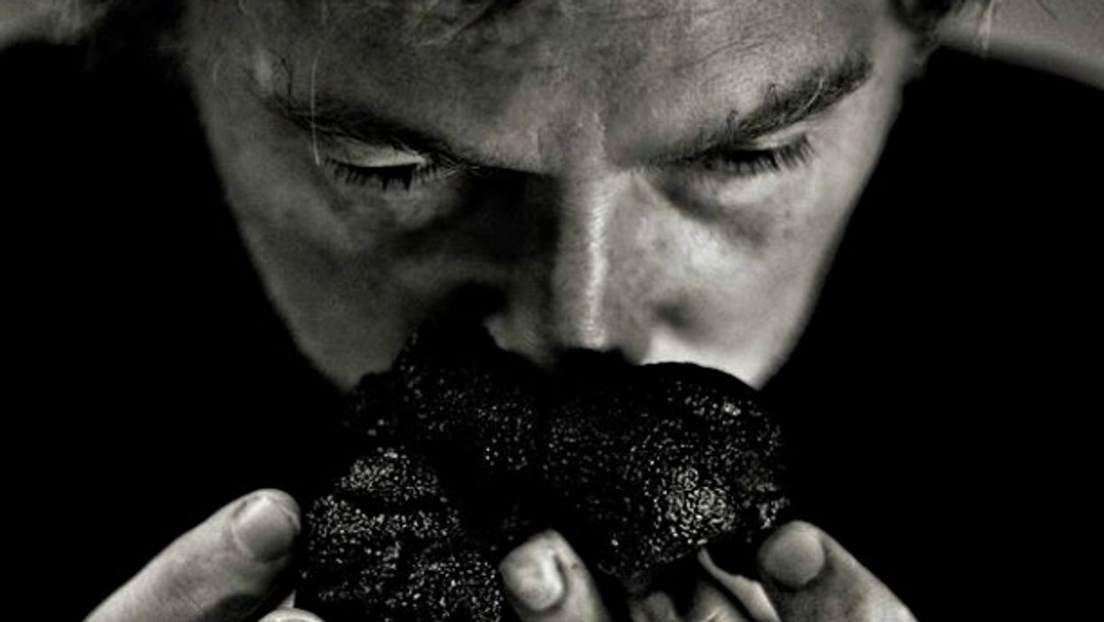 Serge Desazars stops and smells the truffles