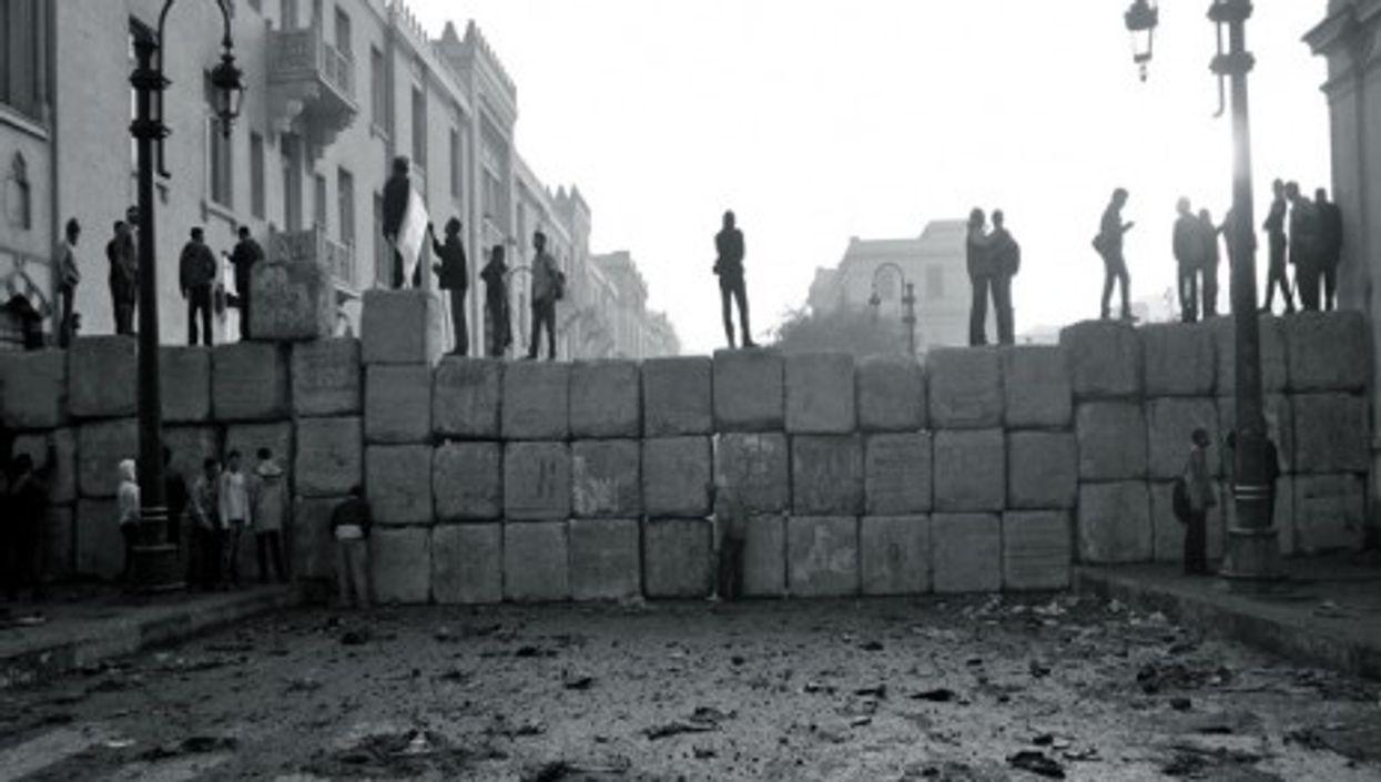Sheikh Rihan Street, near Tahrir Square on December 19, 2011 (Gigi Ibrahim)