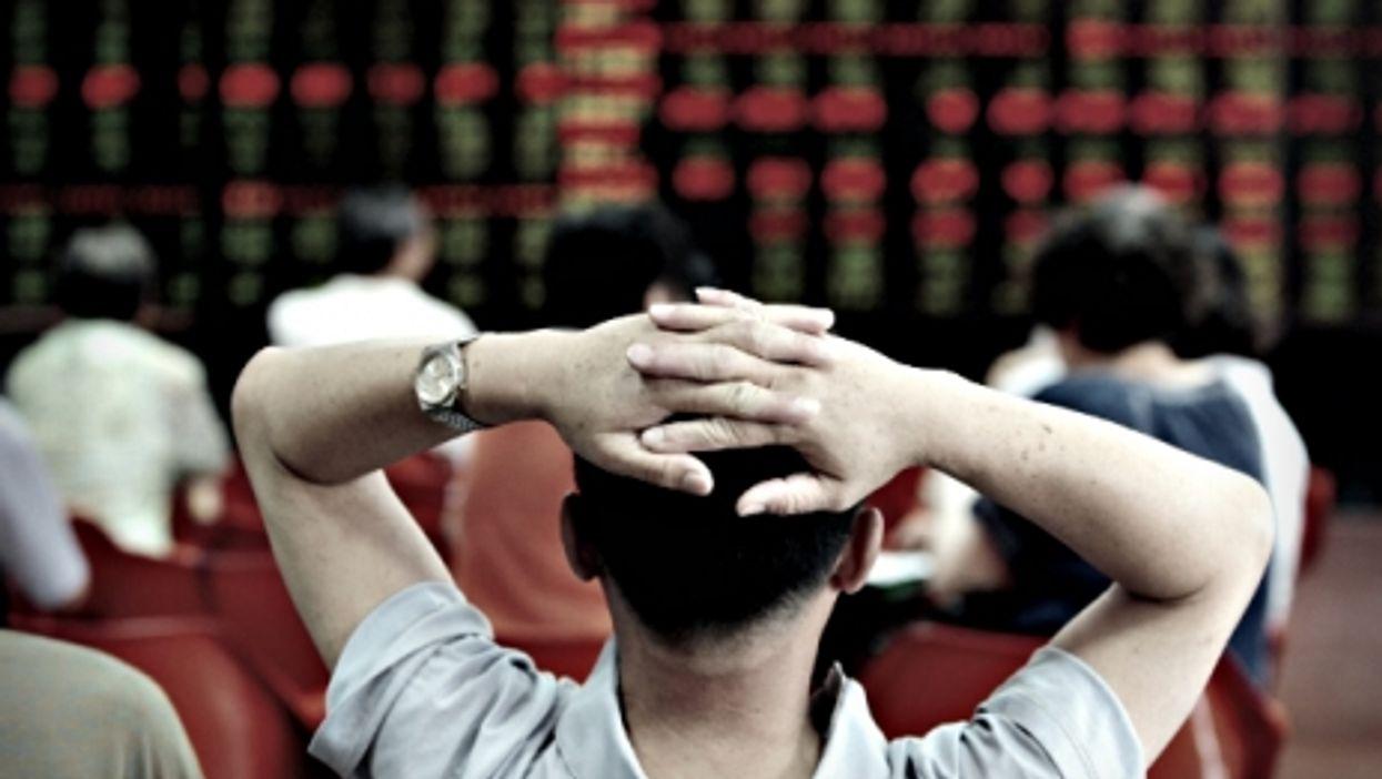 Shenyang's Stock exchange in northeastern China