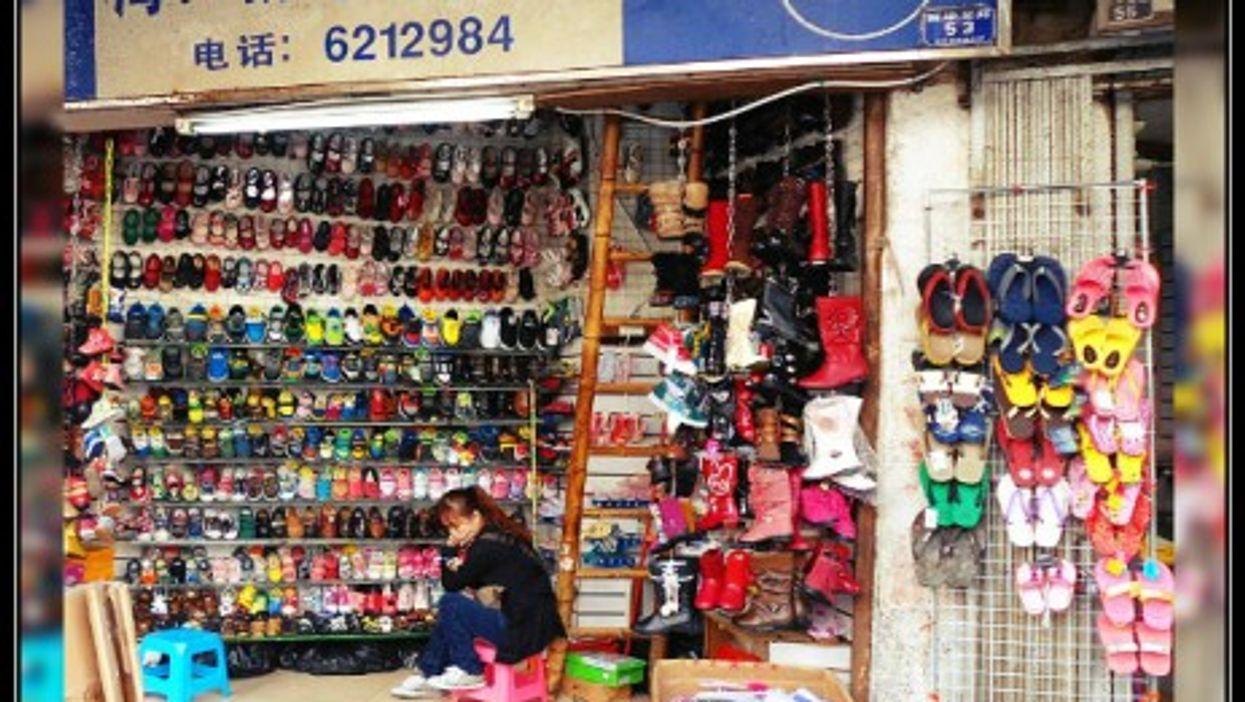 Shoe shop in Haikou, Hainan Province.