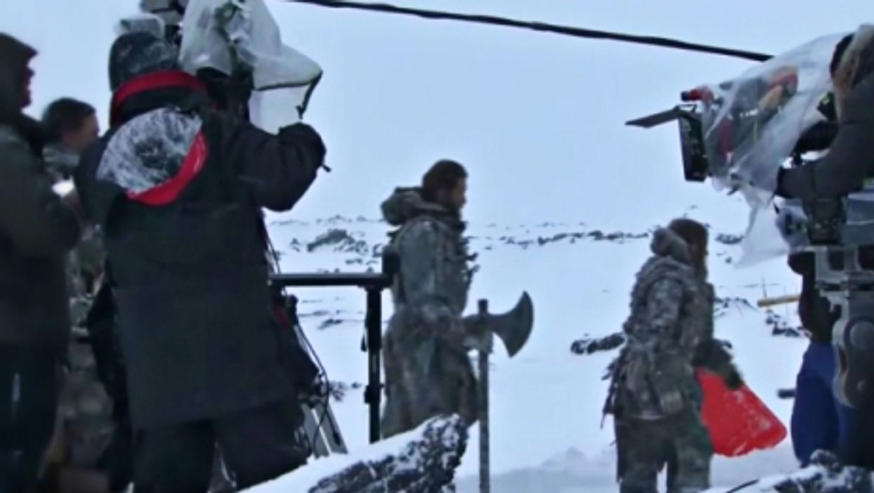 Shooting a Game of Thrones epsode in Iceland