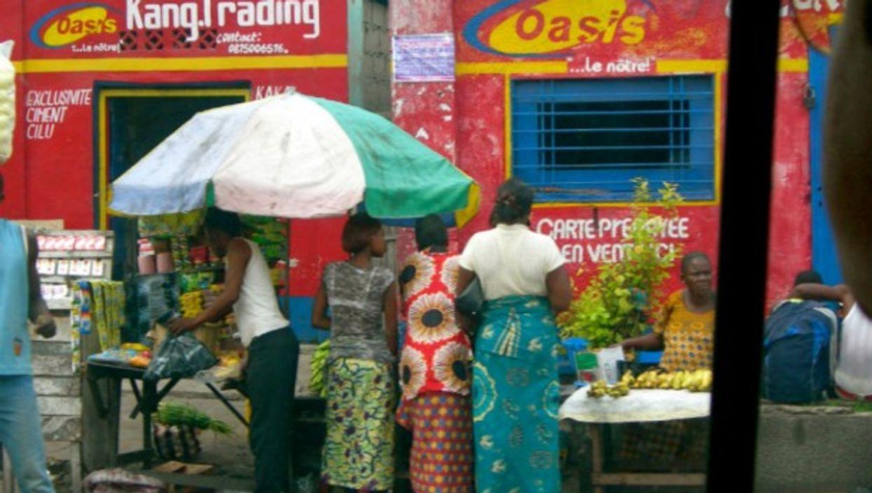 Shoppers in Kinshasa, DRC