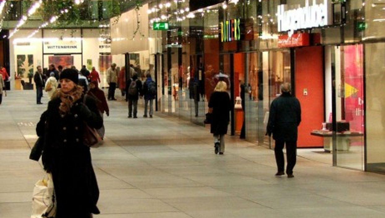 Shoppers in Munich, Germany