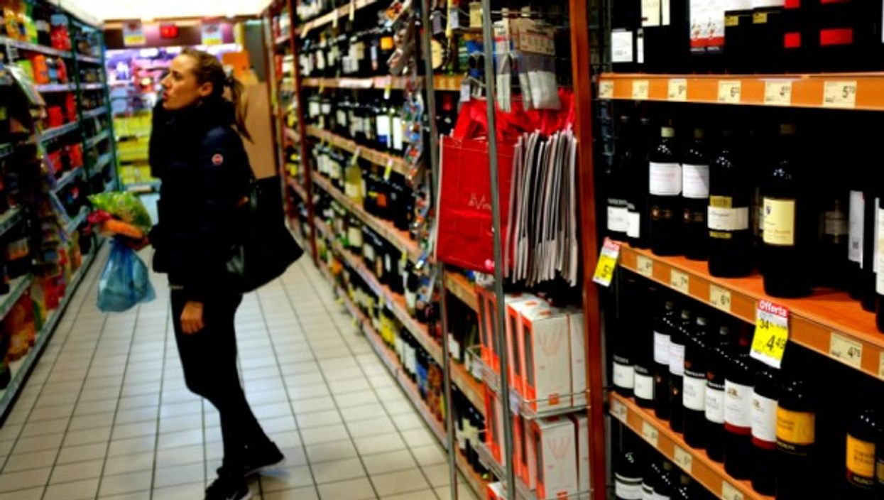 Shopping in a supermarket in Rome