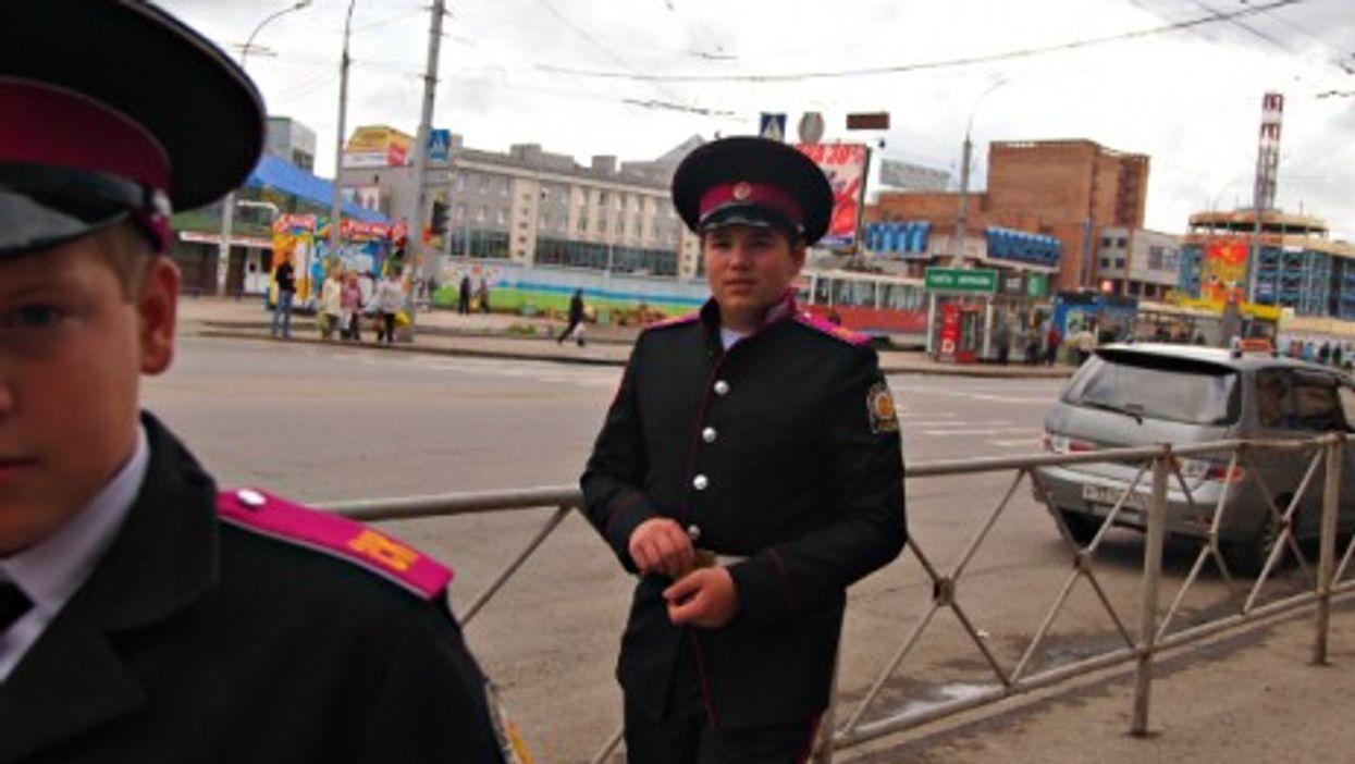 Siberian cadets in Novosibirsk